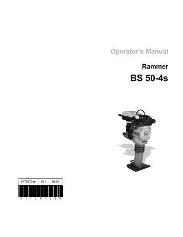 Wacker Bs50-2i Service Manual