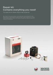 Repair kit: Contains everything you need! - Wacker Neuson