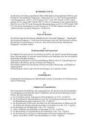 BETRIEBSSATZUNG - Gemeinde Wadgassen