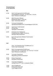 Veranstaltungen in der Gemeinde Mai 21.05. Kath ...