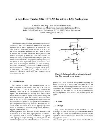 A Low-Power Tunable SiGe HBT LNA for Wireless LAN Applications