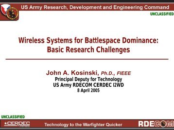 Basic Research Challenges - Center for Wireless and Microwave ...