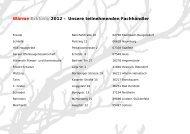 Wärme Exklusiv 2012 – Unsere teilnehmenden ... - Wamsler GmbH