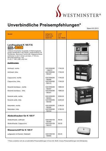 Unverbindliche Preisempfehlungen*