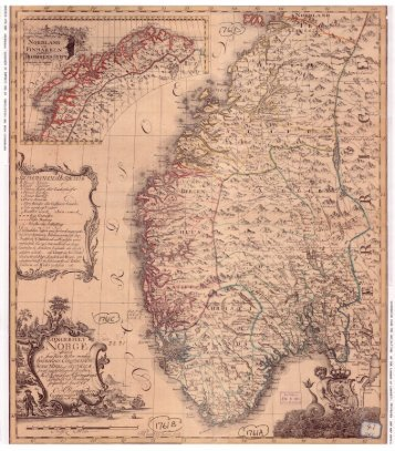 Ove Andreas Wangensteens Norgeskart fra 1761. - wangensteen.net