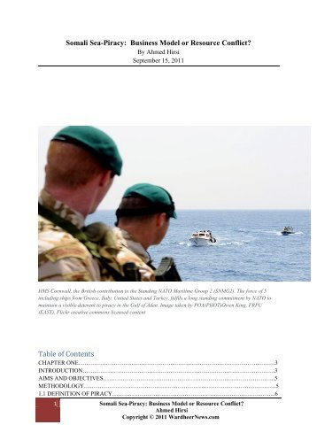 Somali Sea-Piracy: Business Model or Resource ... - Wardheernews