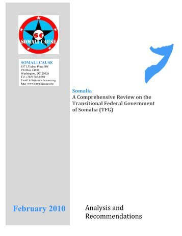 A Comprehensive Review on the TFG of Somalia - WardheerNews