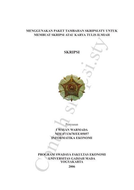 Contoh Skripsi Sty Universitas Gadjah Mada