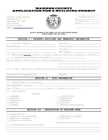 Building Commission Occupancy Permit
