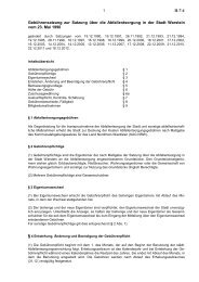 Abfallgebührensatzung - Warstein