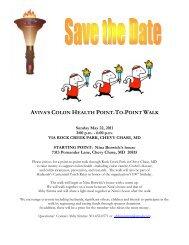 AVIVA'S COLON HEALTH POINT-TO-POINT WALK