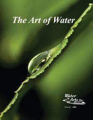 download a PDF version here - Water Arts Inc.