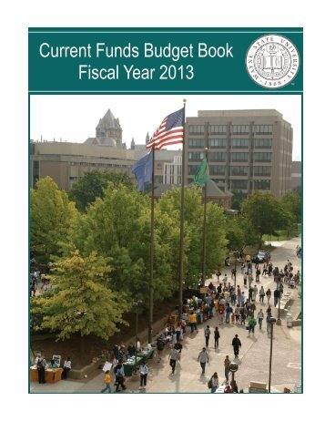 FY 2013 Current Funds Budget Book - Office Of Budget, Planning ...
