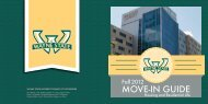 Move-In Guide 2012 - Housing - Wayne State University
