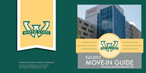 Move In Guide 2012 Housing Wayne State University