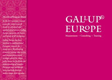 Gallup Brochure - Gallup Europe