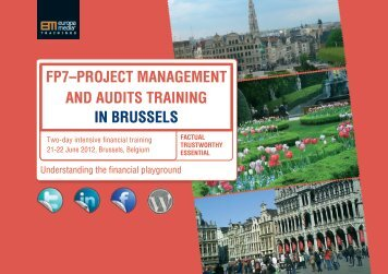 fP7–ProjEct ManagEMEnt and audits training in BrussEls - WBC-Inco