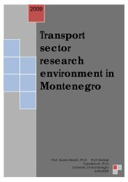 Transport sector research environment in ... - WBC-INCO Net