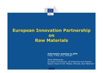 European Innovation Partnership on Raw Materials