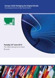 Europe 2020: Bridging the Digital Divide - WBC-INCO Net