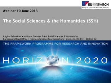 The Social Sciences & the Humanities (SSH) - WBC-INCO Net