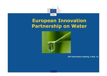 European Innovation Partnership on Water - WBC-Inco