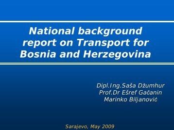 Presentation Transport in Bosnia and Herzegovina - WBC-INCO Net