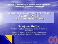 Background report Bosnia and Herzegovina - WBC-INCO Net