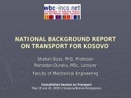 Presentation Transport in Kosovo - WBC-INCO Net