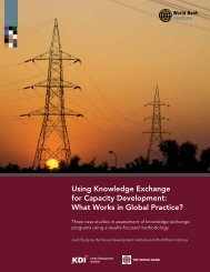 Using Knowledge Exchange for Capacity Development: What ... - Ning