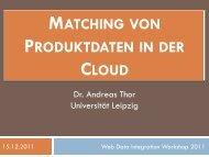 Produkt-Matching - Web Data Integration Lab - Universität Leipzig