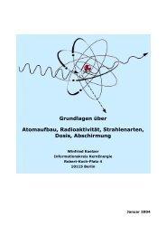 Atomaufbau, Strahlung, Dosis, Abschirmung