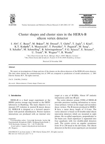 Cluster shapes and cluster sizes in the HERA-B silicon vertex detector