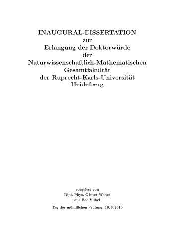 INAUGURAL-DISSERTATION zur Erlangung der Doktorwürde der ...