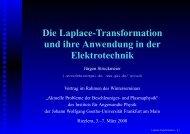 Die Laplace-Transformation und ihre Anwendung in der ... - GSI