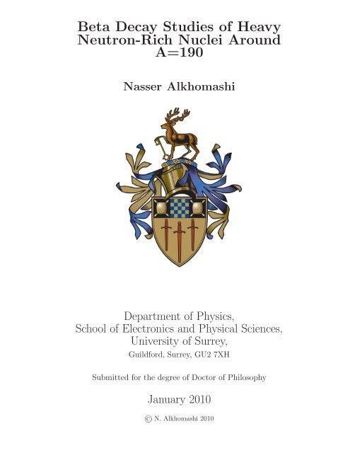 Nasser Alkhomashi University Of Surrey