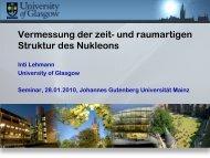 Vermessung der zeit- und raumartigen Struktur des Nukleons - GSI