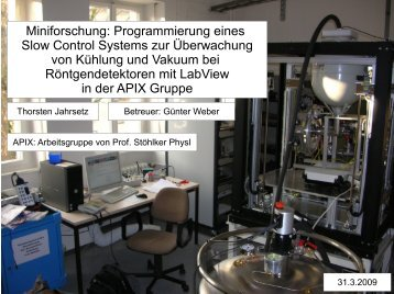 Miniforschung: Programmierung eines Slow Control Systems ... - GSI
