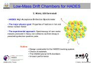 Low-Mass Drift Chambers for HADES - GSI