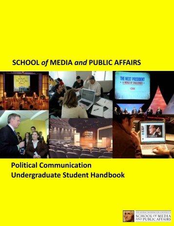 JMC Student Handbook 2009-2010.pub - Columbian College of Arts ...
