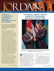 His Majesty, Obama reaffirm Jordan-U.S. Partnership, Urge Quick ...