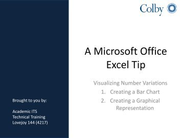 A Microsoft Office Excel Tip
