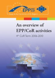 An overview of EPP/CoR activities - Sign In - Europa