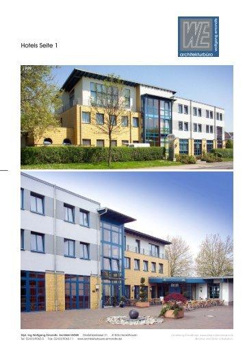 Hotels (PDF 1,7 MB) - Ing. Wolfgang Emondts Architekt AKNW