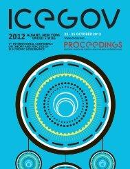 icegov2012 proceedings