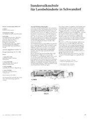 Planen und Bauen für Kranke und Behinderte, Architektur