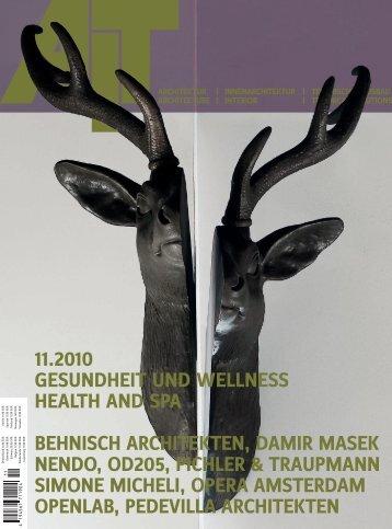 11.2010 GESUNDHEIT UND WELLNESS ... - architekturbuero JOST