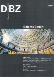 Zentrum Ludesch/A; Minergiehaus, Bern/Ch; - architekturbuero JOST