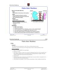 Finite-State Machines - Department of Electronics at Carleton ...