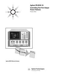 Agilent PN 8510-16 Controlling Test Port Output Power Flatness